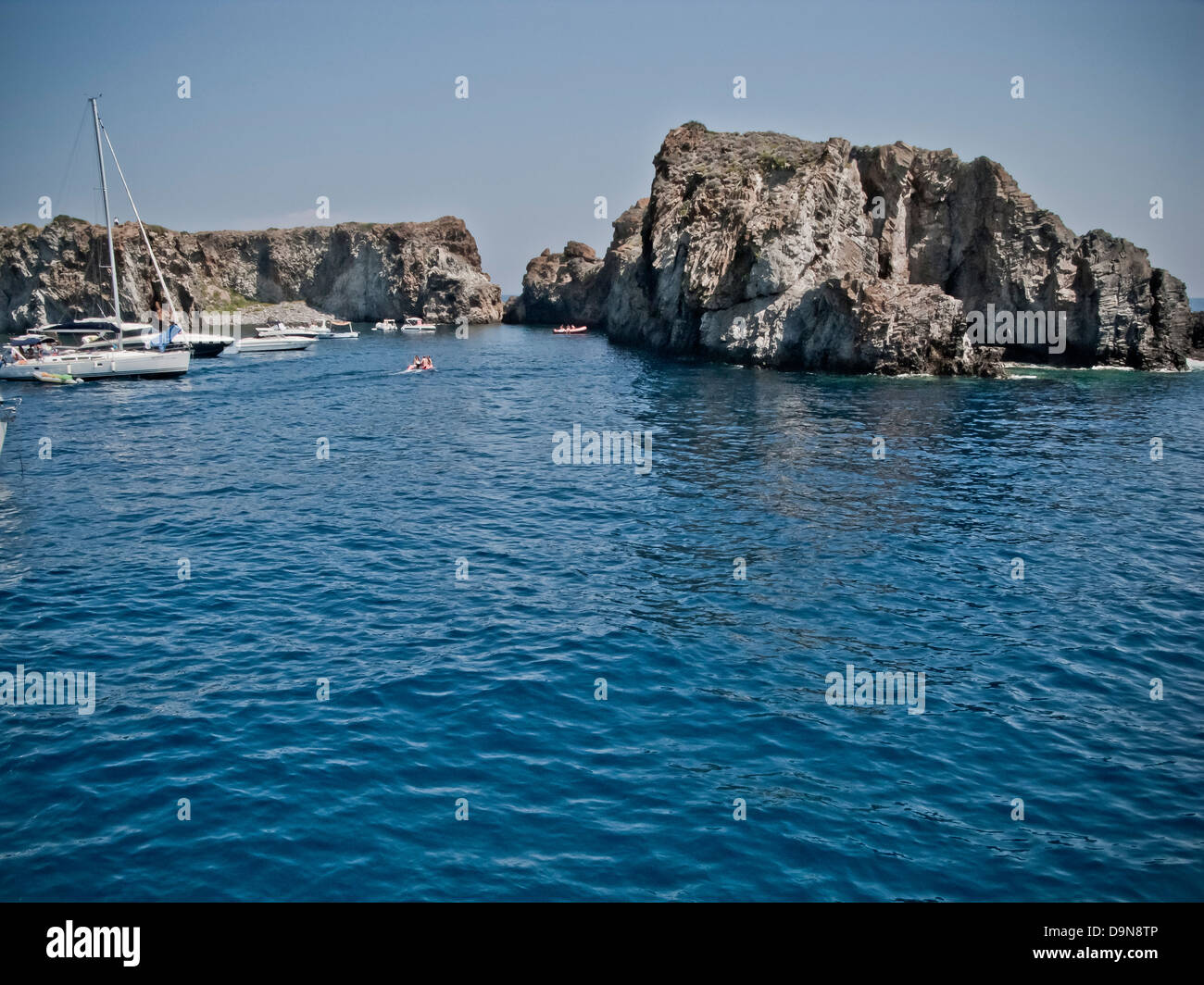 Isola di Lipari, Isole Eolie,sicilia,Italia Immagini Stock