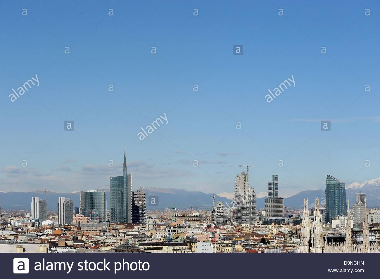 Skyline,milano, lombardia, italia Immagini Stock