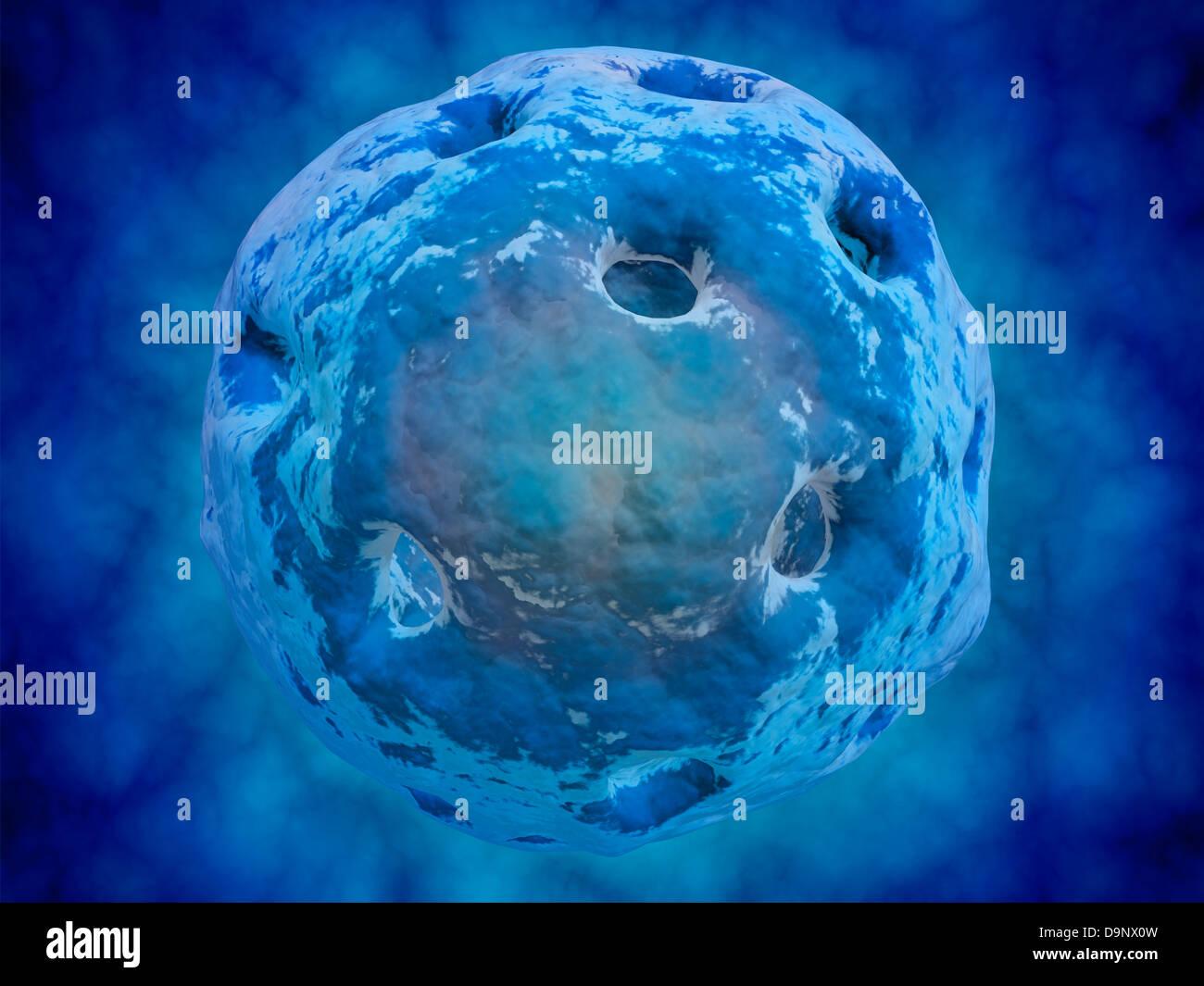 Immagine concettuale del nucleo cellulare. Immagini Stock