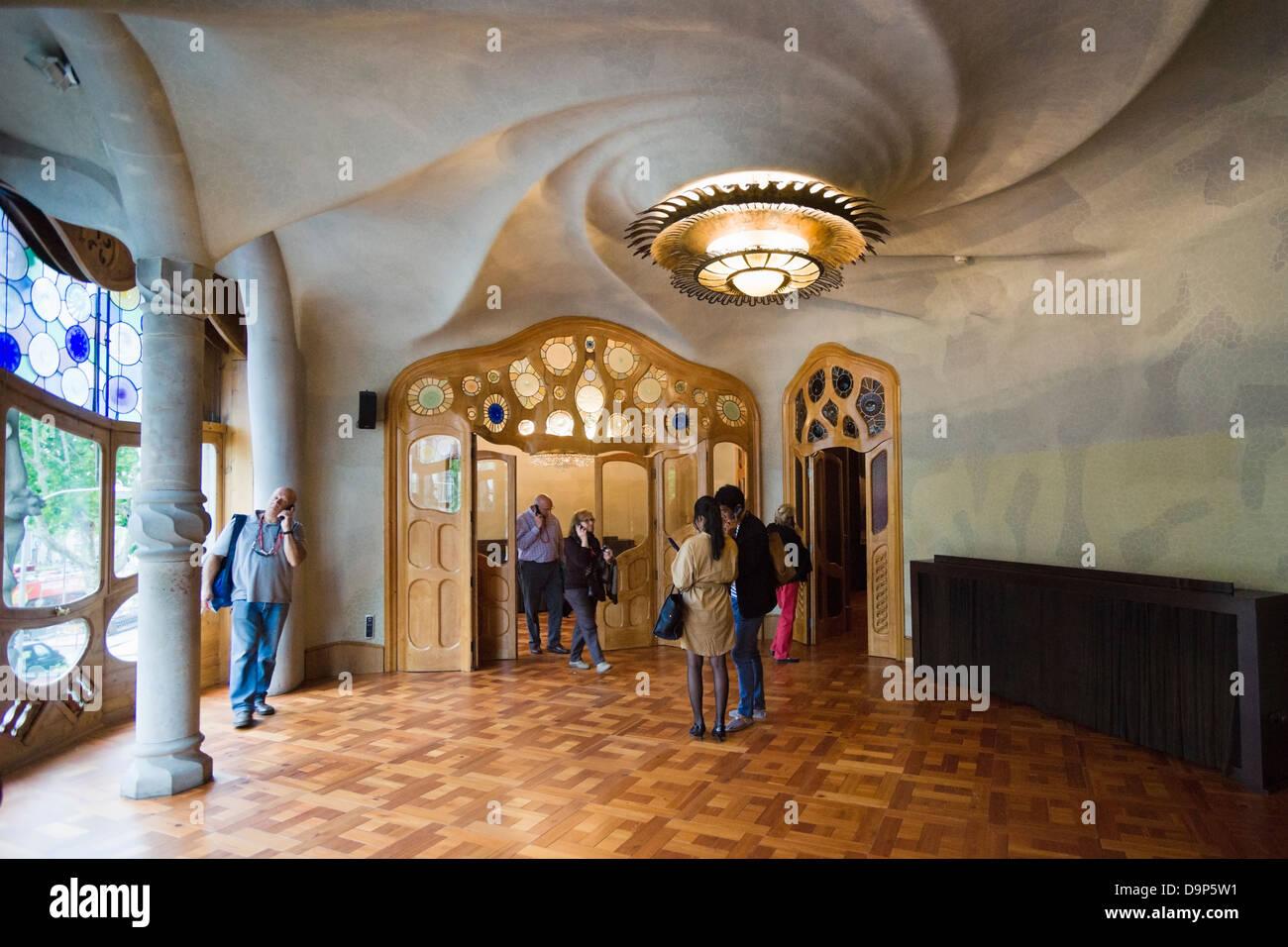 Casa Batllo, Soggiorno, Barcellona, Spagna Foto & Immagine Stock ...