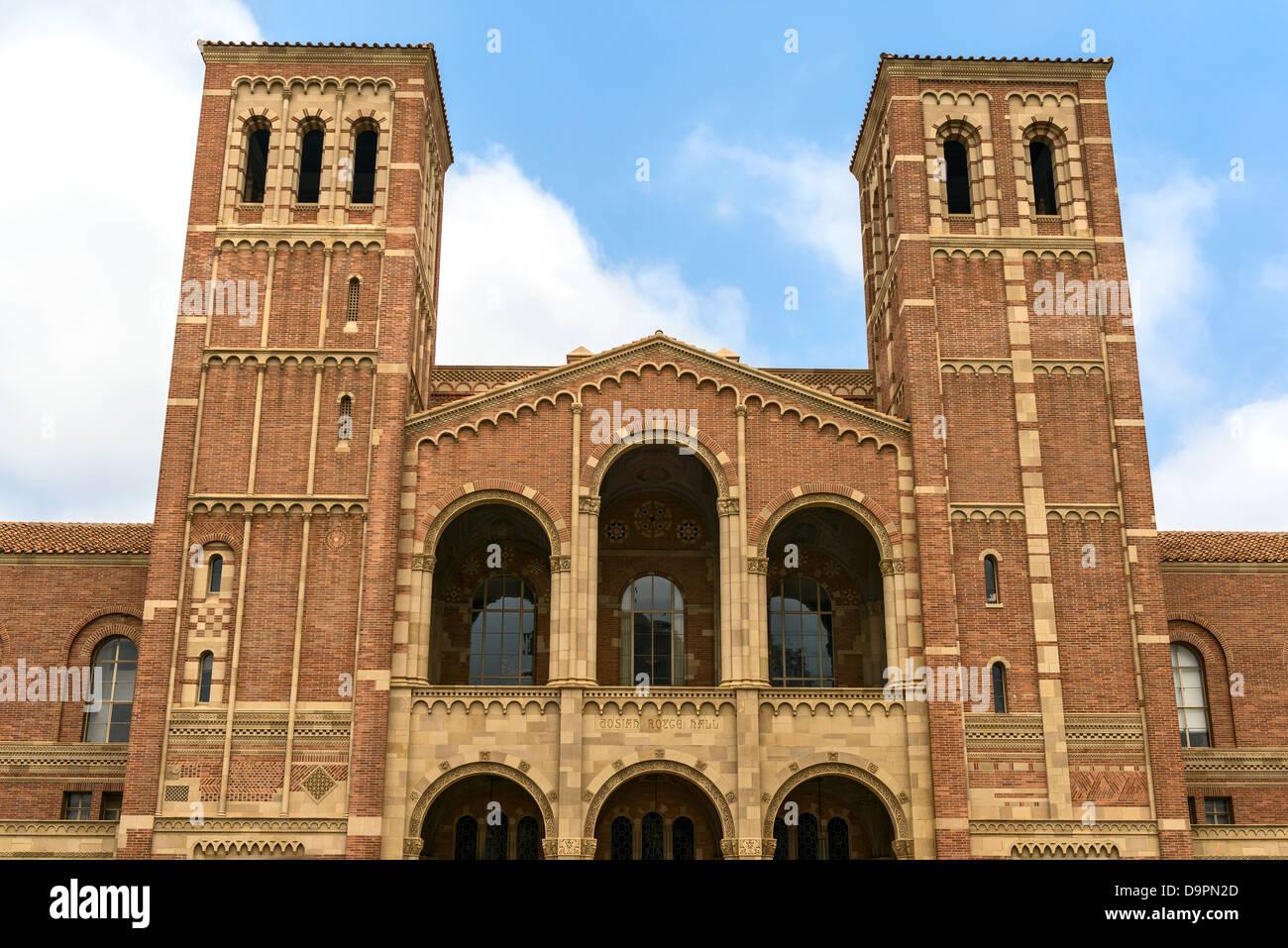 La famosa sala di Royce della UCLA, la University of California di Los Angeles. Foto Stock