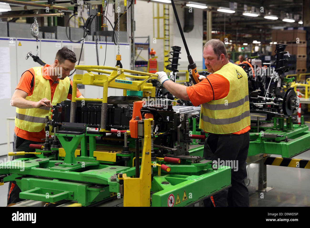 Saarlouis, 12.6.2013 - Produktion linea des Ford Focus elettrica. Foto: Ford Werke GmbH/Stark Immagini Stock