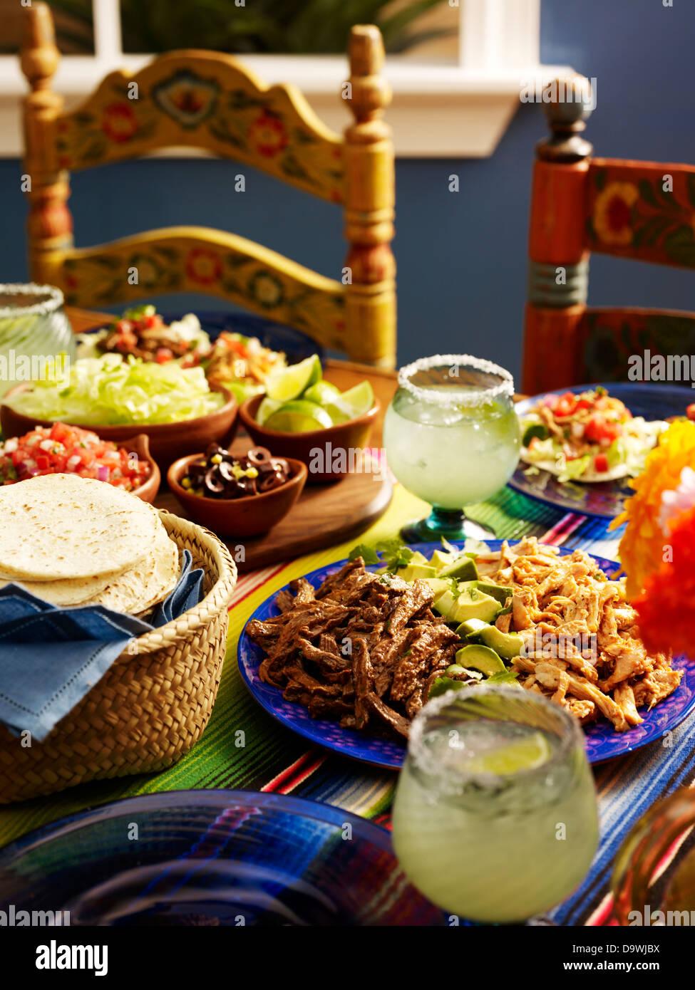 Tradizionale cibo messicano Immagini Stock