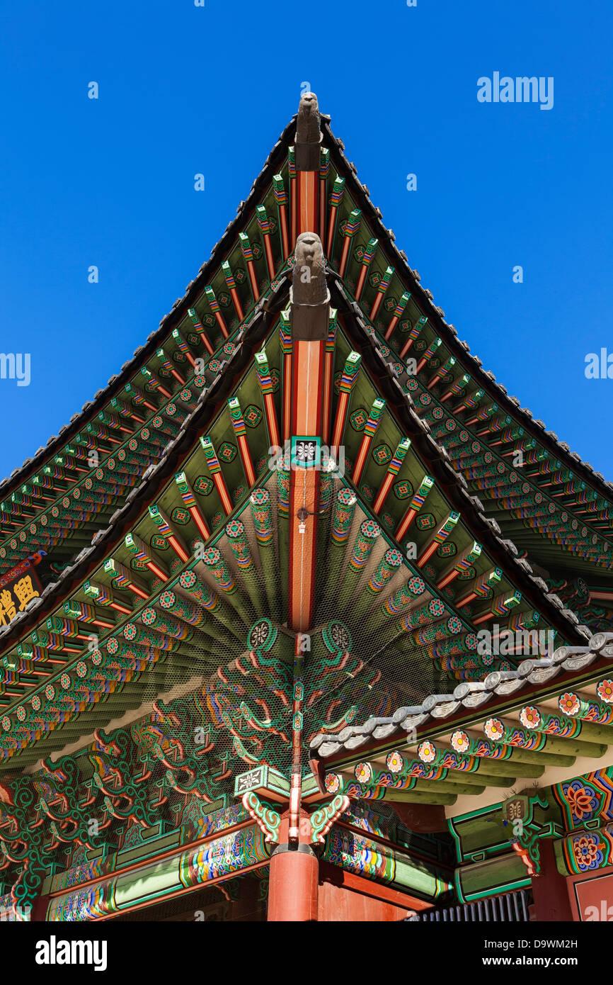 Il Palazzo Gyeongbokgung Palace of Shining felicità, Seoul, Corea del Sud, Asia Immagini Stock