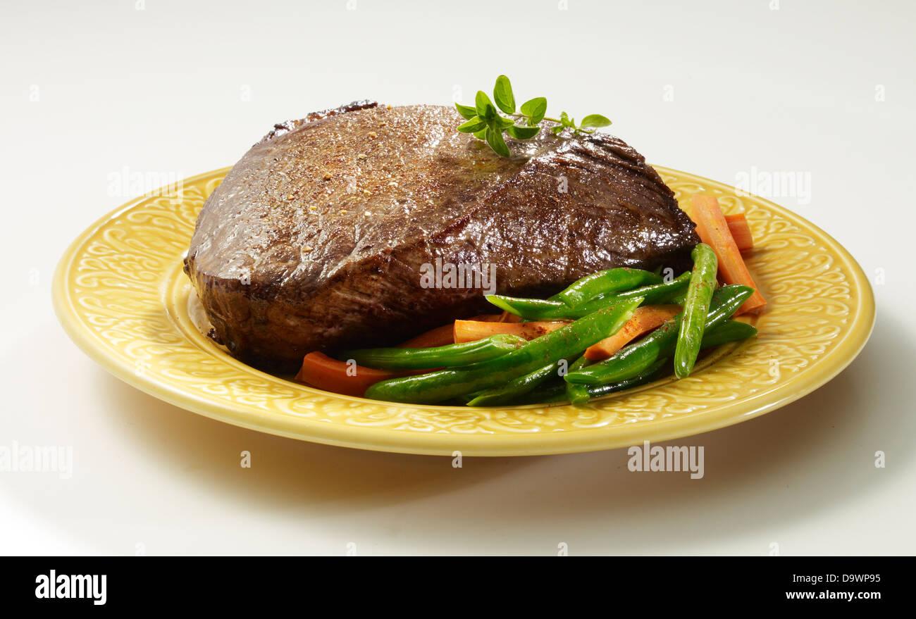 Top round roast compensate Immagini Stock