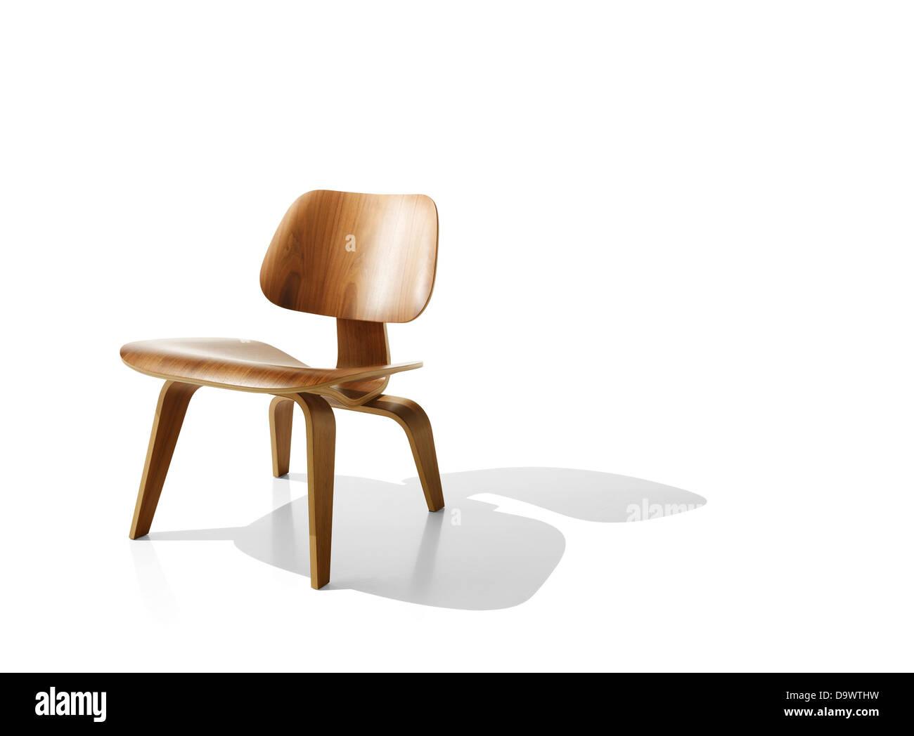 Sedia su bianco Immagini Stock