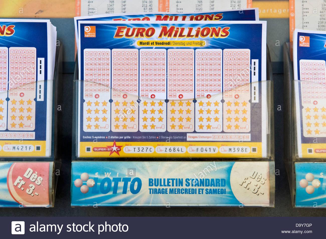 Swiss Lotto,Ginevra, Svizzera Immagini Stock