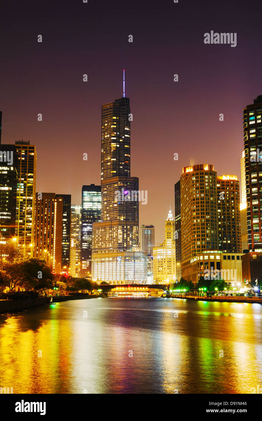 Trump International Hotel and Tower a Chicago, Illinois Immagini Stock