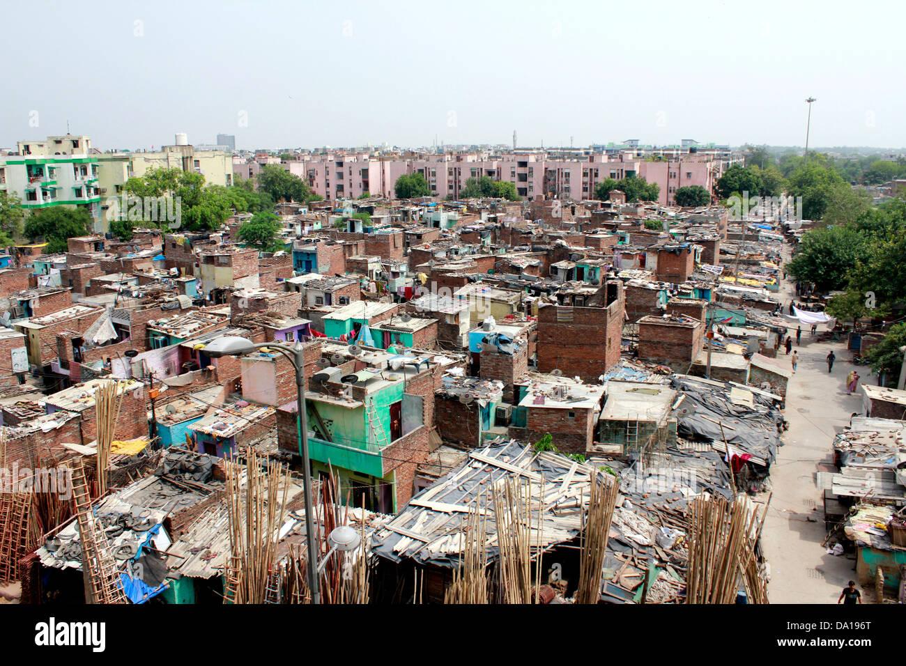 Baraccopoli in New Delhi India Immagini Stock