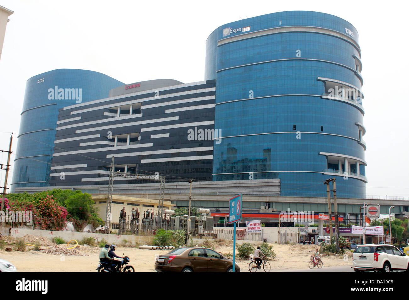 DLF CYBER TERRAZZA complesso a gurgoan, Haryana Immagini Stock