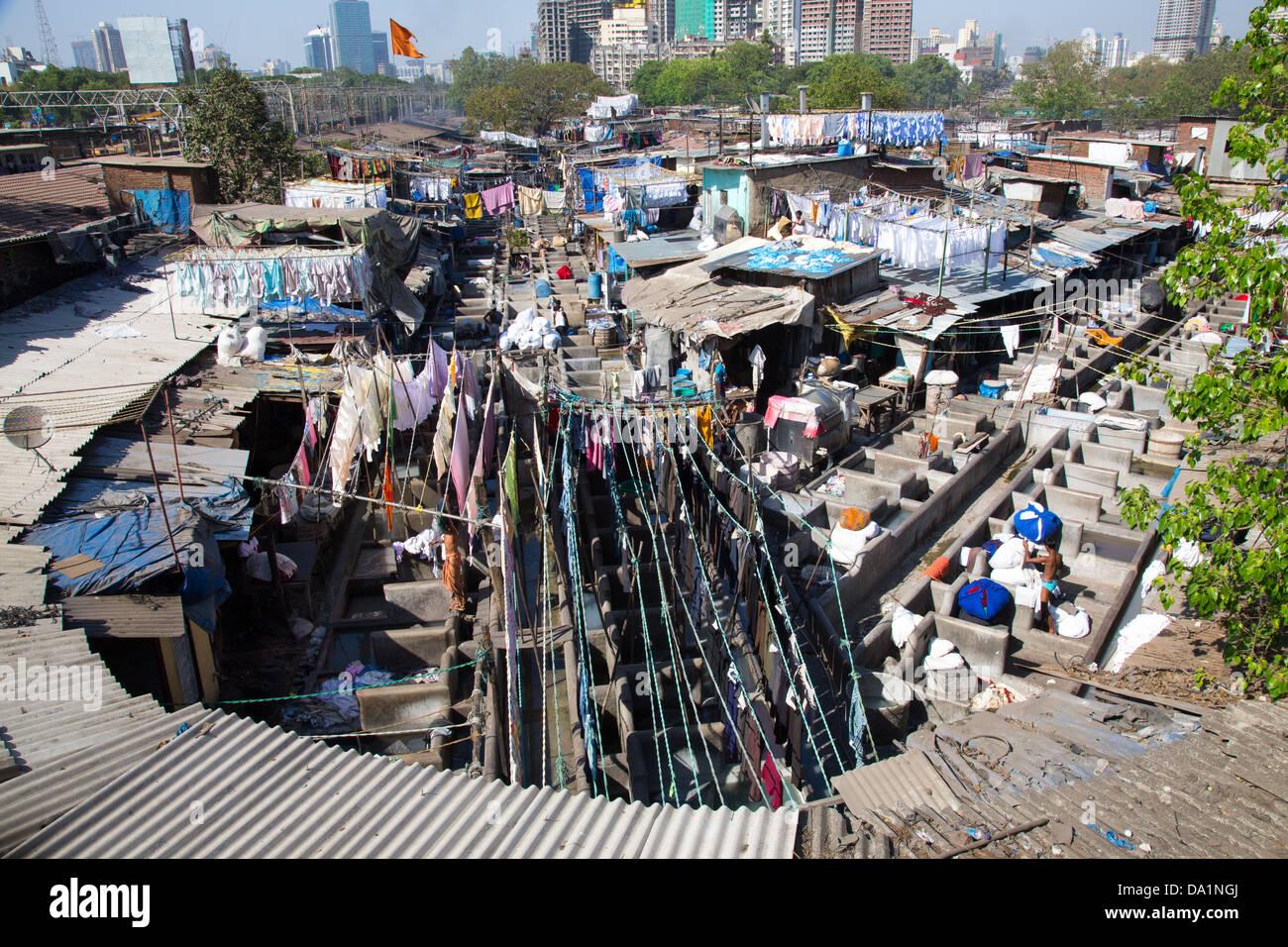 Dhobi Ghat, Mumbai, India Immagini Stock