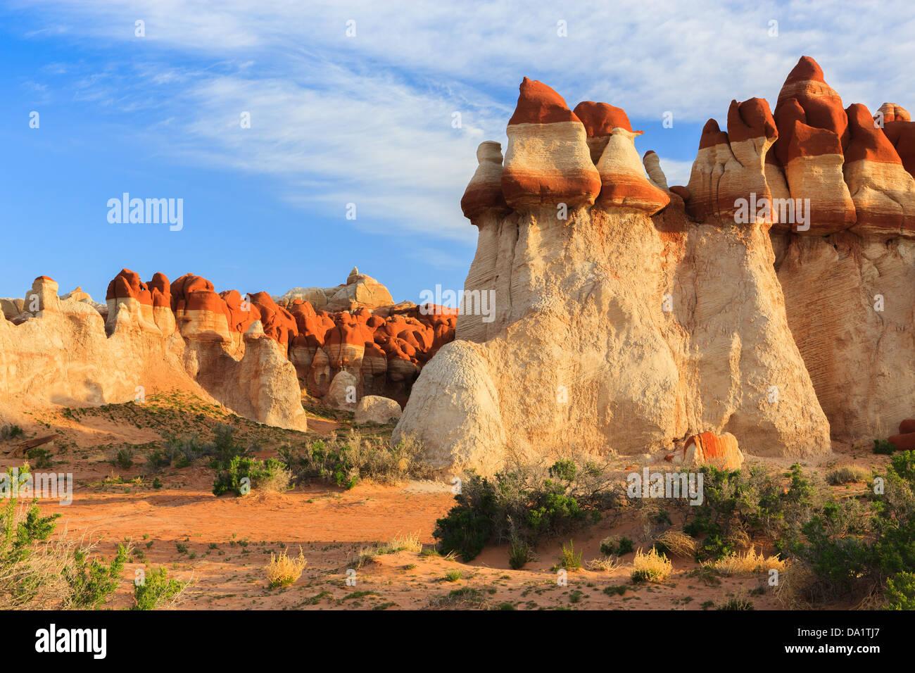 Il Red Rock massi in Blue Canyon area di Moenkopi Lavare a sud di Tonalea, Arizona, Stati Uniti d'America Immagini Stock