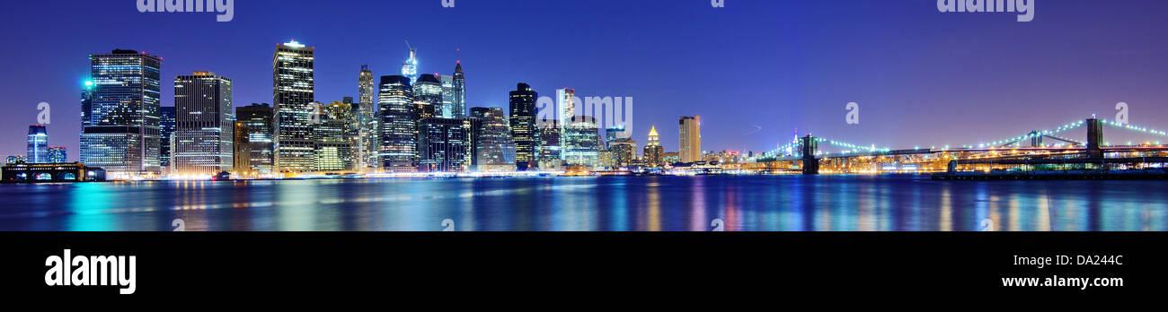 La parte inferiore di Manhattan skyline di New York City. Immagini Stock