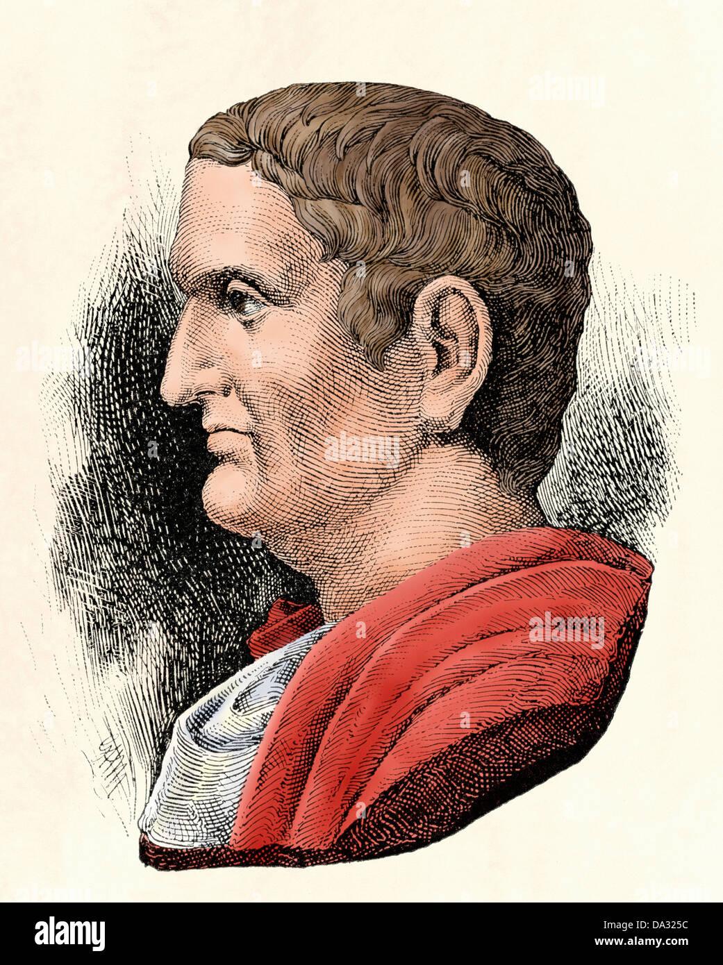 Il generale romano e più Marc Antony. Digitalmente la xilografia colorata Immagini Stock