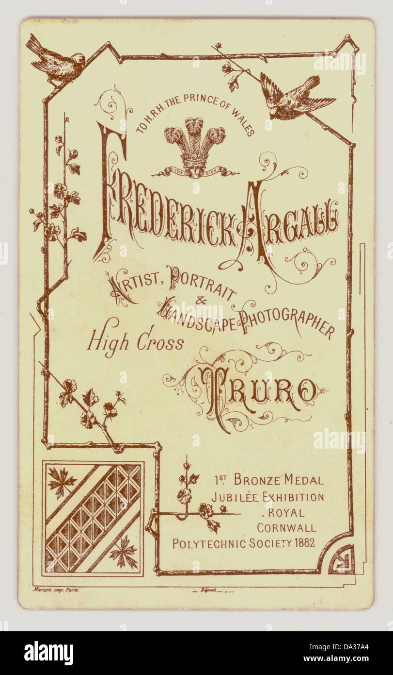 Inversione di Victorian Cartes de Visite, 1890's, U.K. Immagini Stock