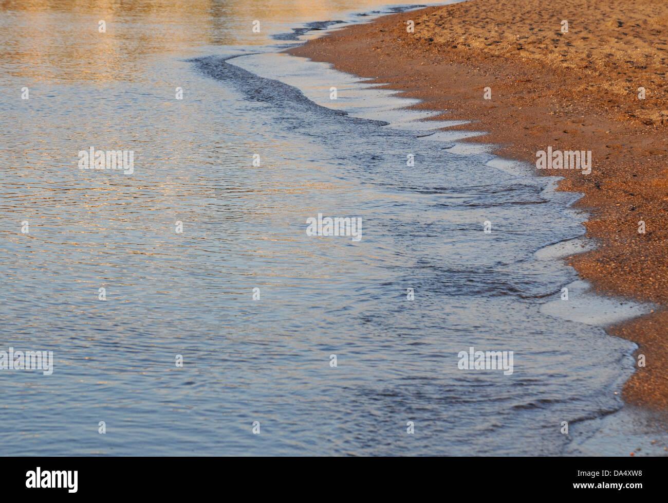 Spiaggia, estate, sfondi, Vettore, sabbia, testurizzati, Immagini Stock