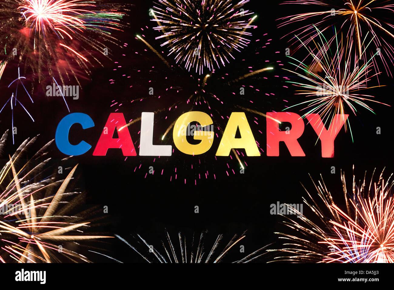 CALGARY Alberta Canada segno Immagini Stock