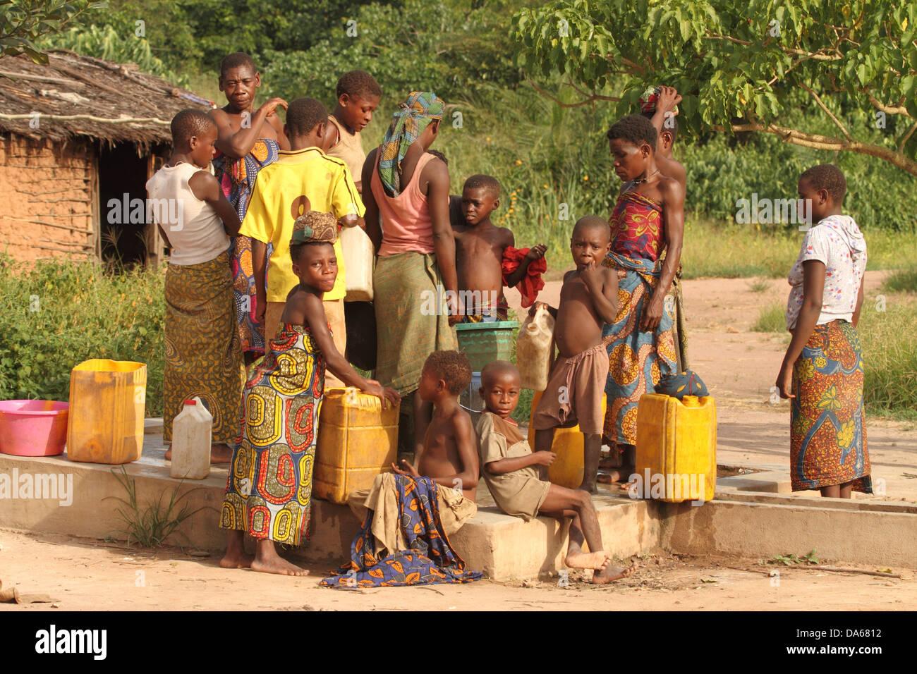 Etniche, minoranza, indigeni, persona, Pigmei, pigmei Baka, ben, Sangha, Dzanga Sangha, Bayanga, Bacino del Congo, Immagini Stock