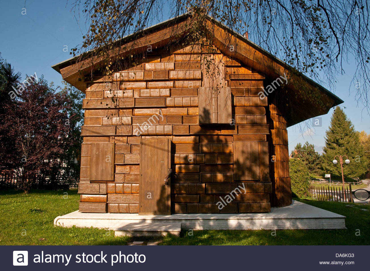 Casa del libro,tambre,veneto,Italia Immagini Stock