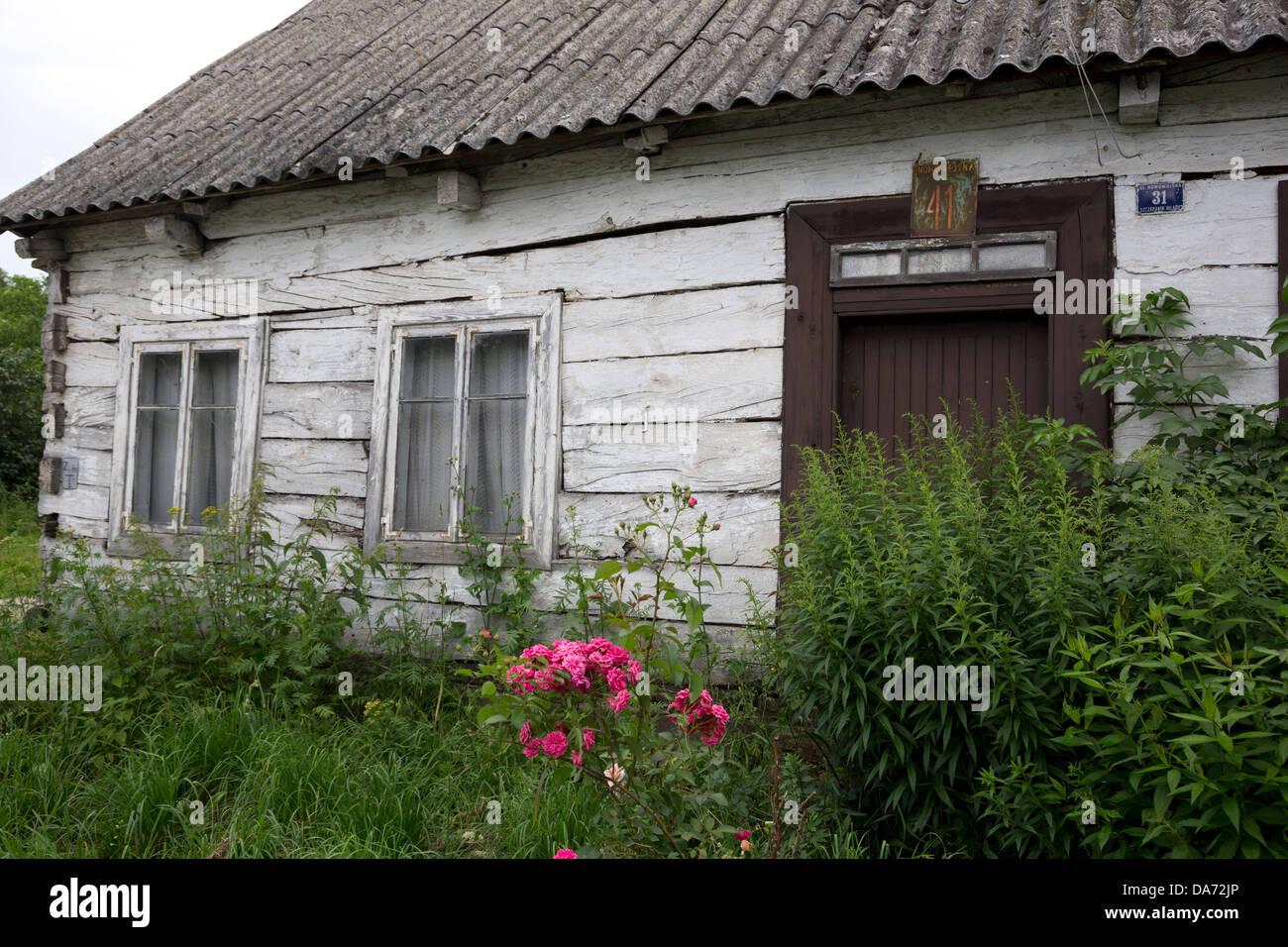 Cottage di botte in Liw, Polonia Immagini Stock