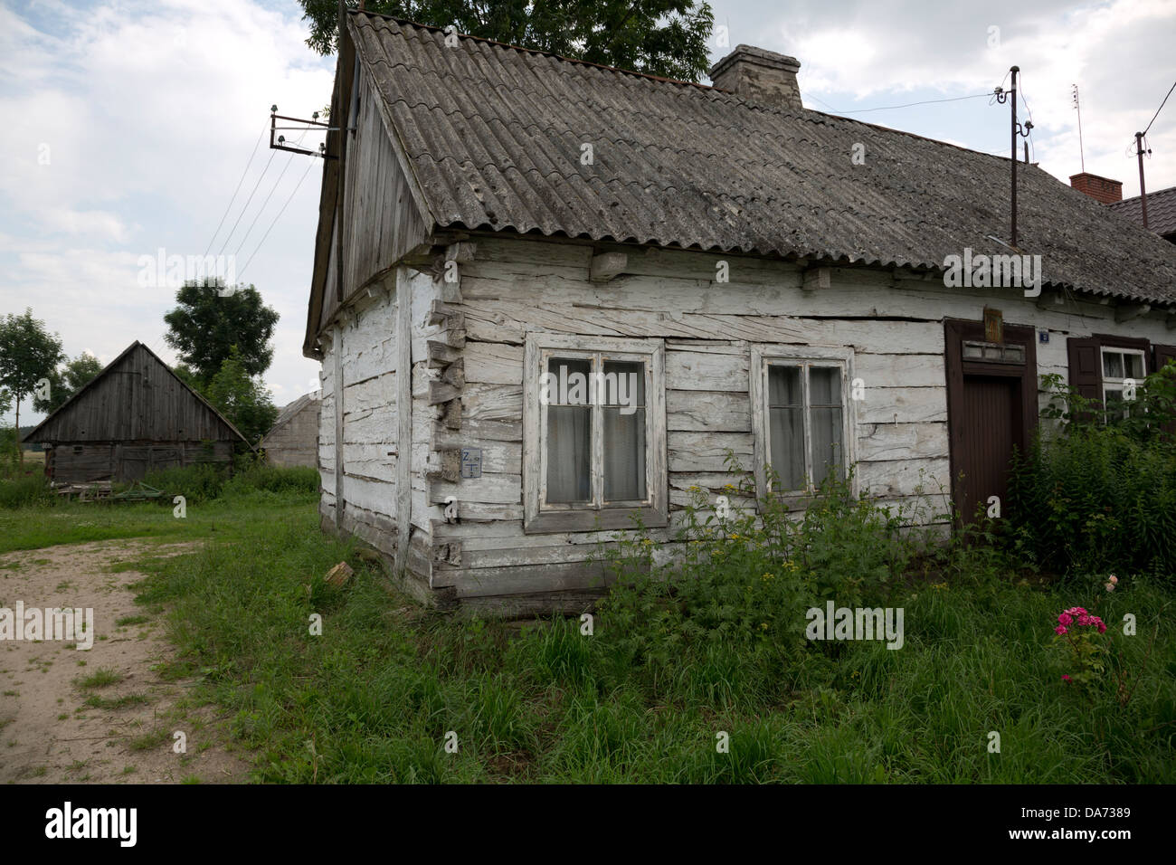 Cottage di botte in Liw, Polonia Foto Stock