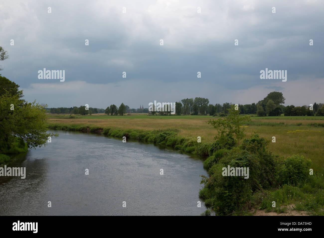 Fiume Liwiec in Polonia Immagini Stock