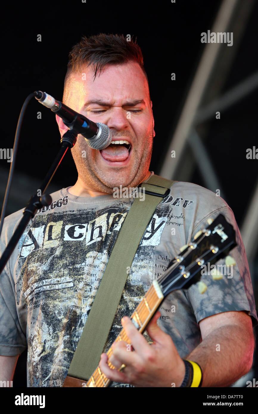 Londra, Regno Unito. Il 6 luglio 2013. Steve Leonard di fede n Fury effettuando al Festival Danson, Bexleyheath, Immagini Stock