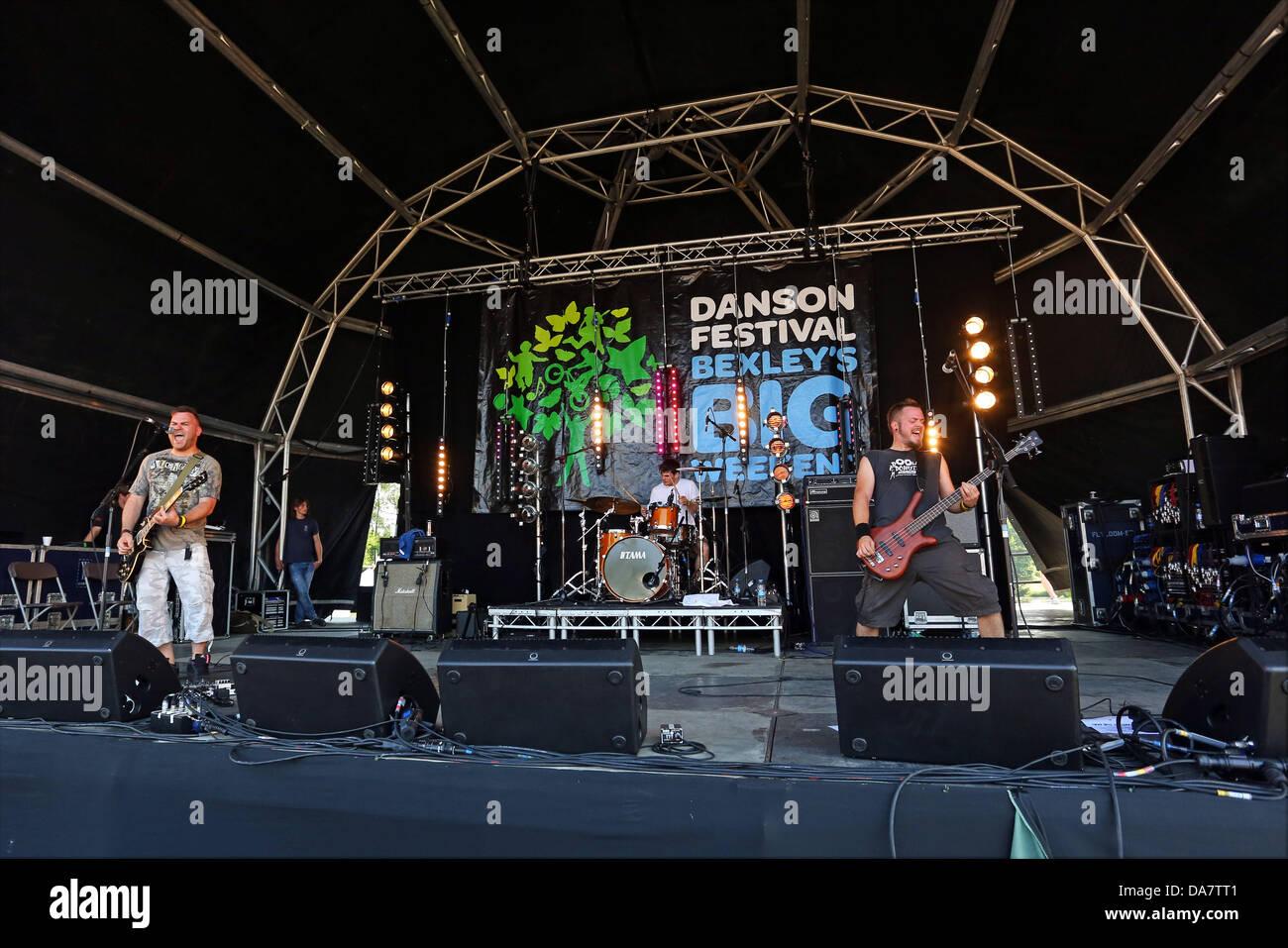 Londra, Regno Unito. Il 6 luglio 2013. La fede n Fury effettuando al Festival Danson, Bexleyheath, Londra Credito: Immagini Stock