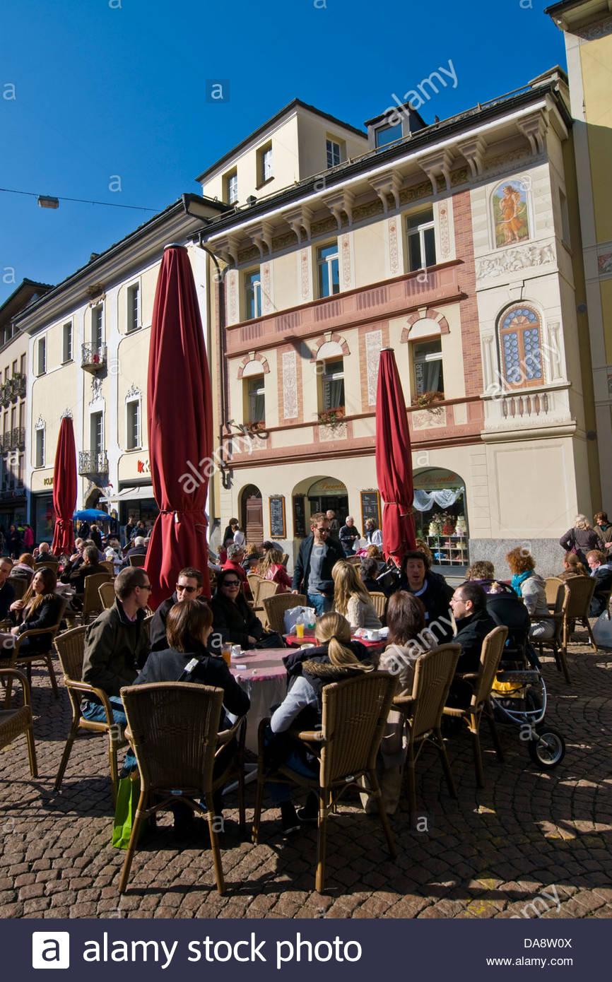 Tempo libero,Bellinzona,Canton Ticino, Svizzera Immagini Stock