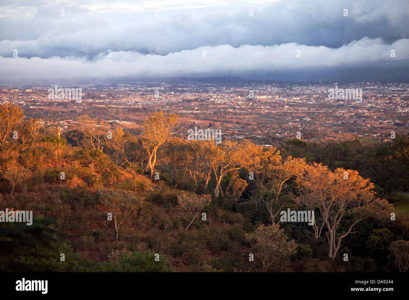 Affacciato sulla San Jose Valley, Costa Rica Immagini Stock
