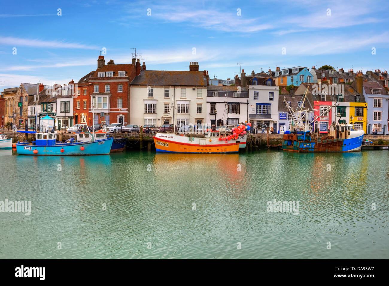 Porto storico di Weymouth Dorset, Regno Unito Foto Stock