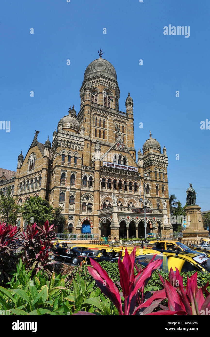 India India del Sud, Asia, Maharashtra, Mumbai Bombay, Città, Dadabhai Naoroji, strada, Municipal Corporation, Immagini Stock
