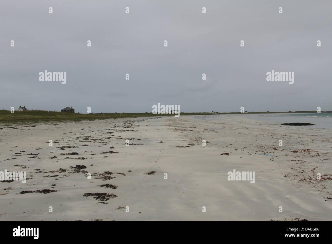Spiaggia gott bay isle of tiree scozia giugno 2013 Immagini Stock