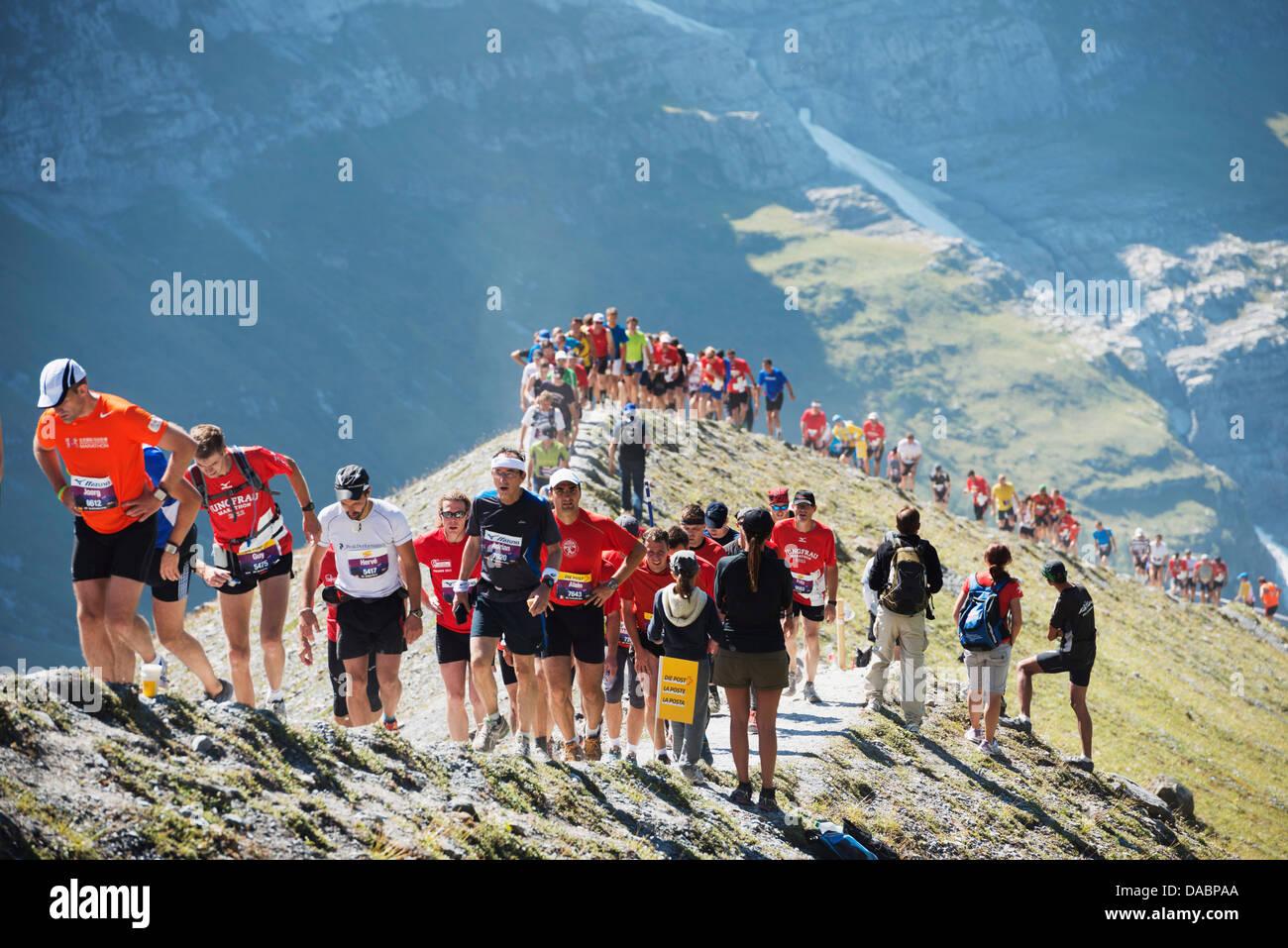 Maratona della Jungfrau, Oberland bernese, Svizzera, Europa Immagini Stock