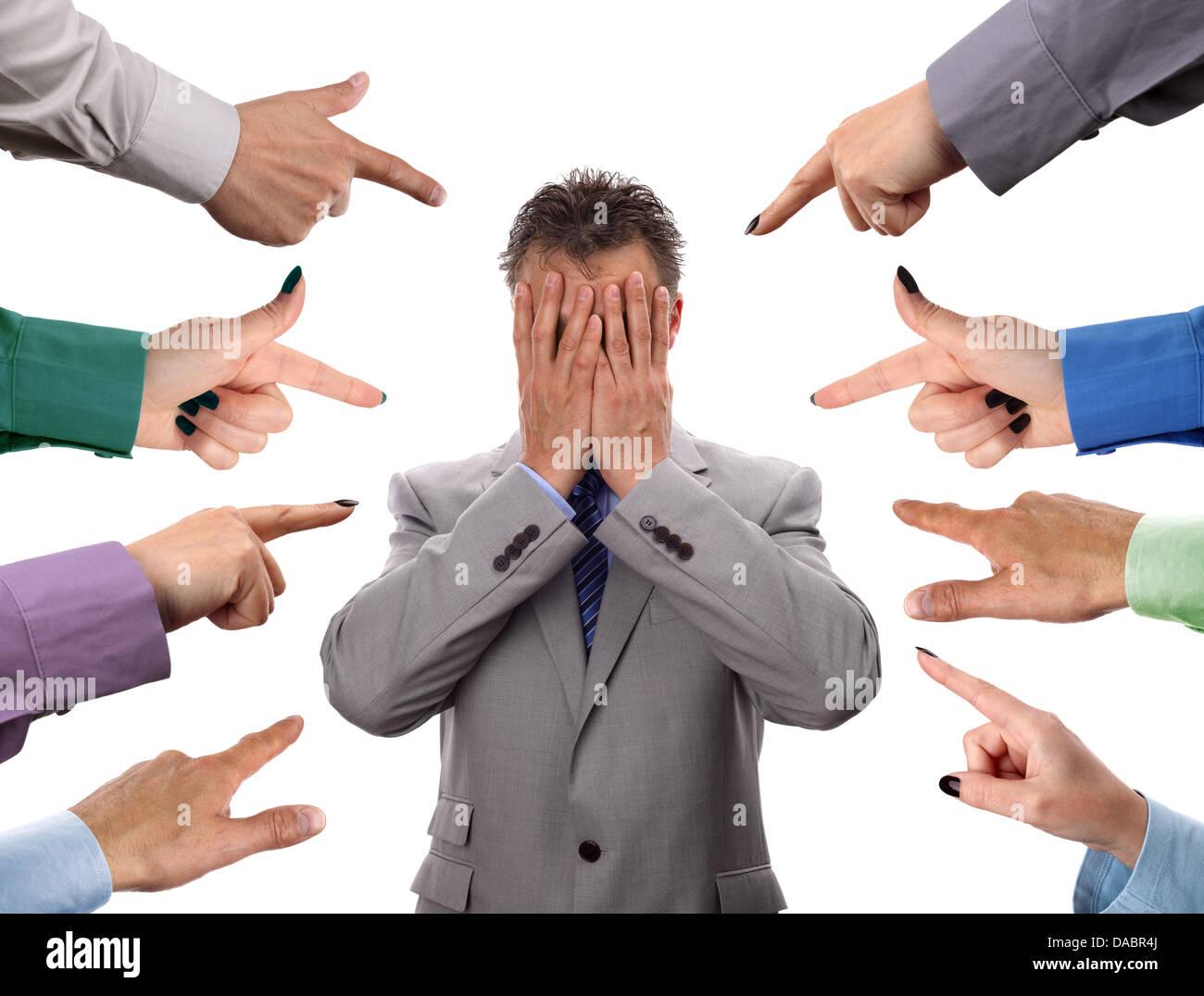 Accuse di business Immagini Stock