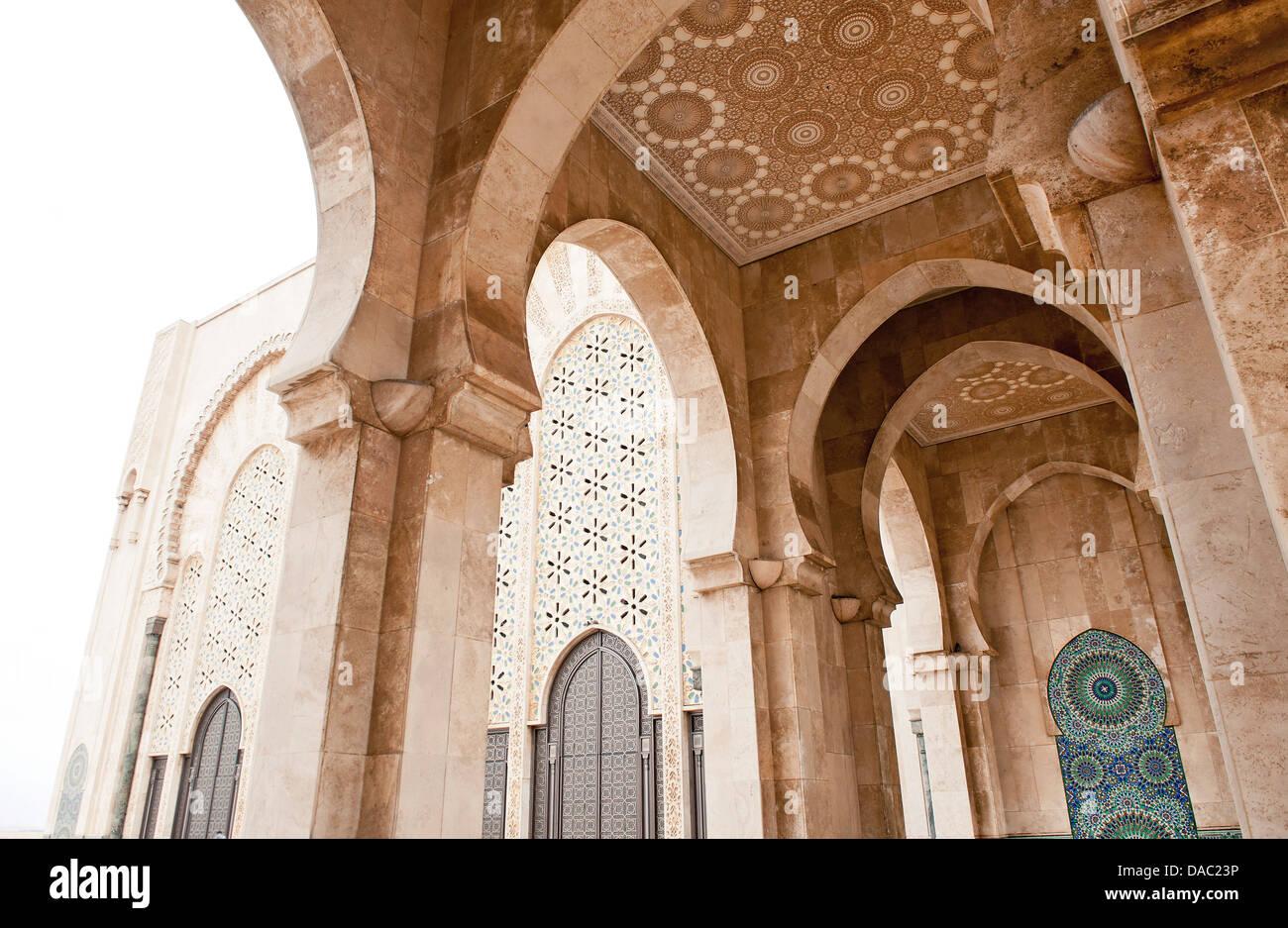 Interno della moschea di Hassan II, Casablanca, Marocco, Africa Immagini Stock