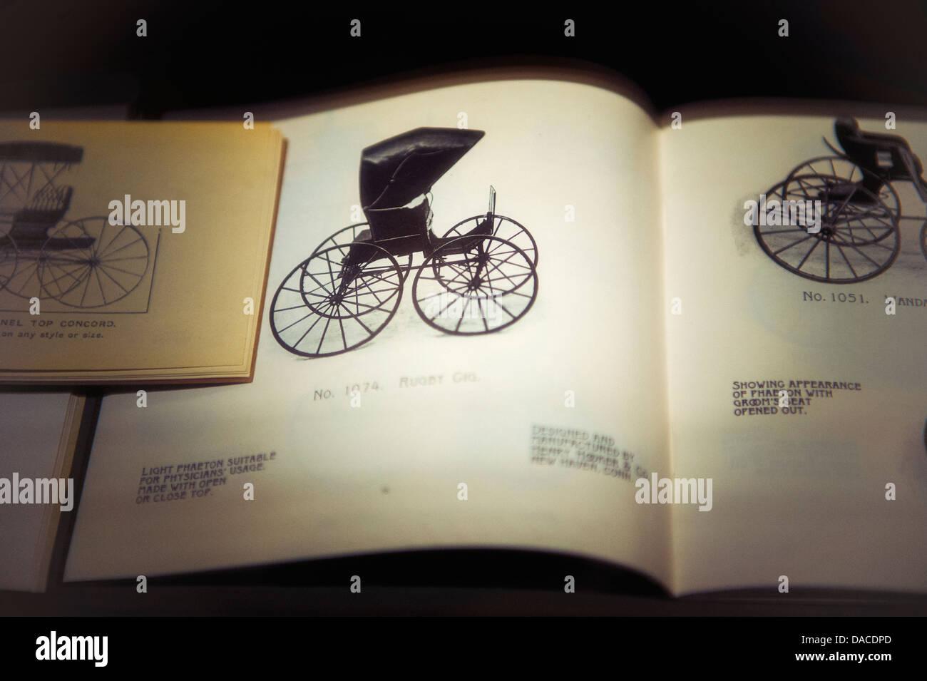 Vintage catalogo carrello Immagini Stock