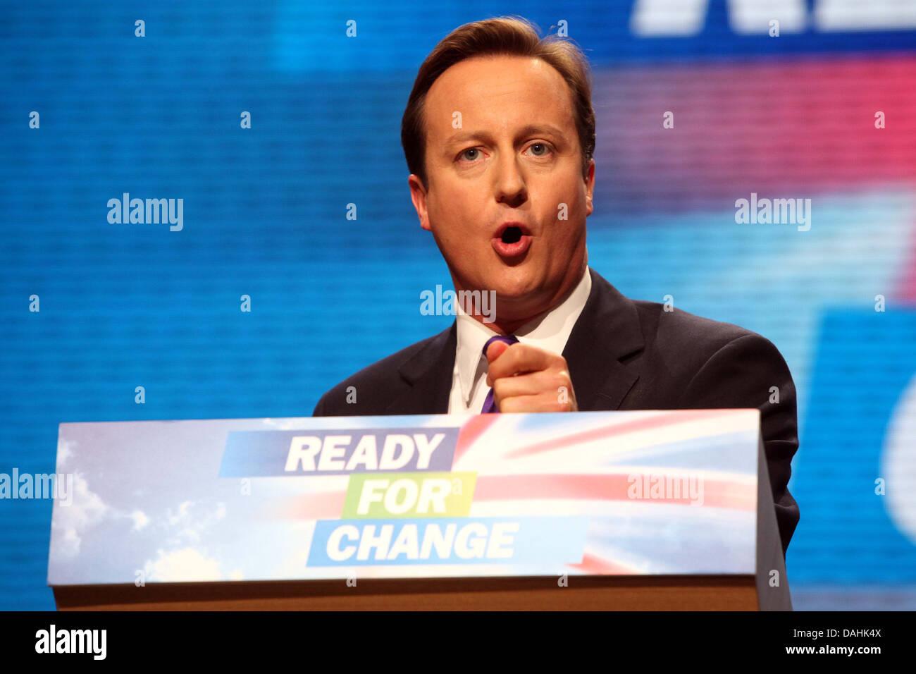David Cameron congresso del Partito Conservatore 2009 Pronti per il cambiamento Immagini Stock