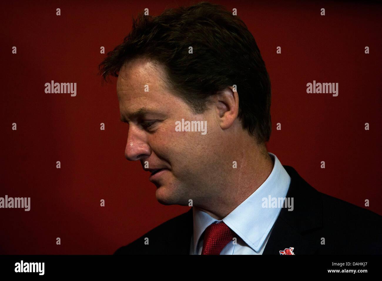 Il vice primo ministro Nick Clegg Immagini Stock