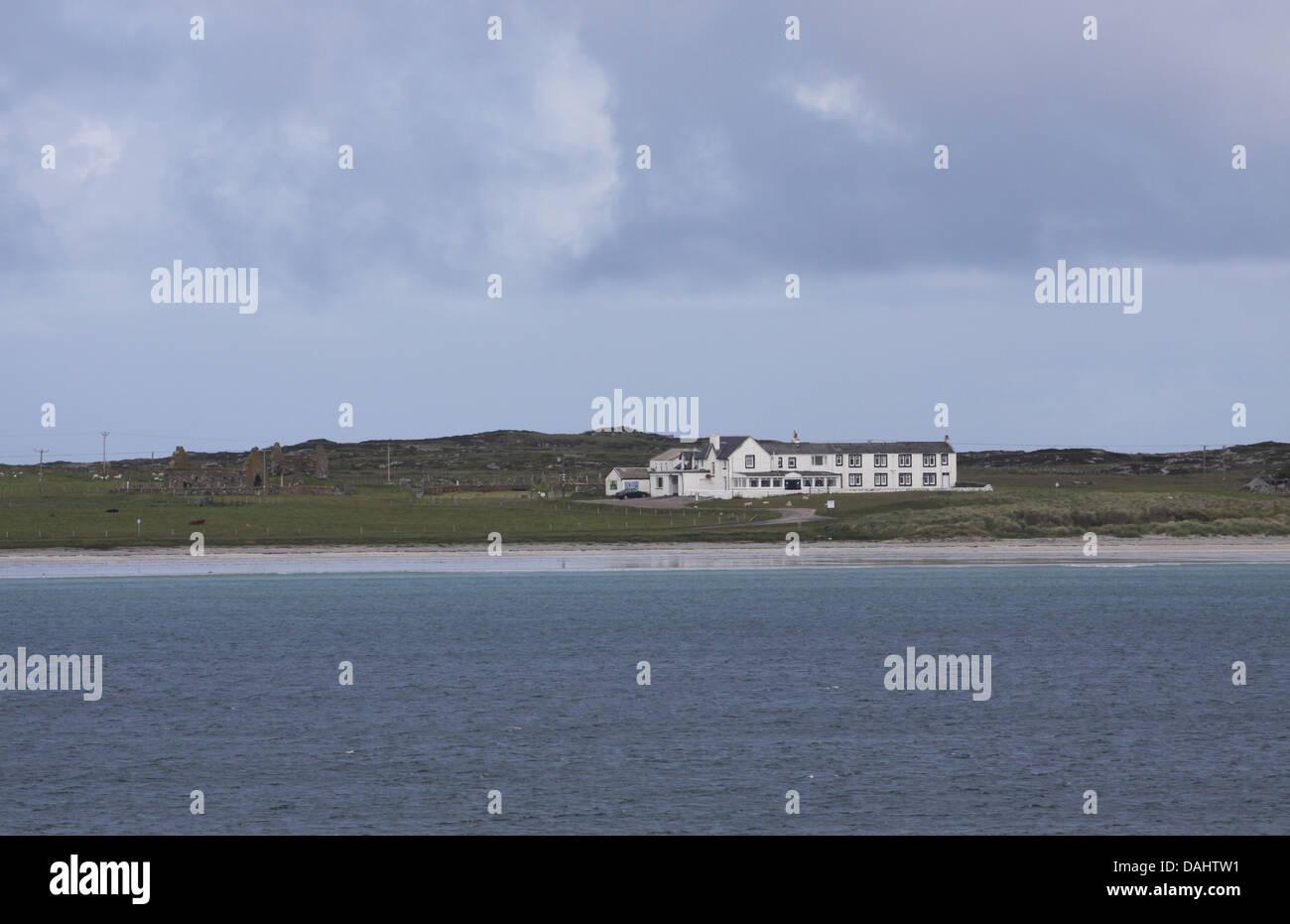 Hotel su gott bay isle of tiree Scozia Luglio 2013 Immagini Stock