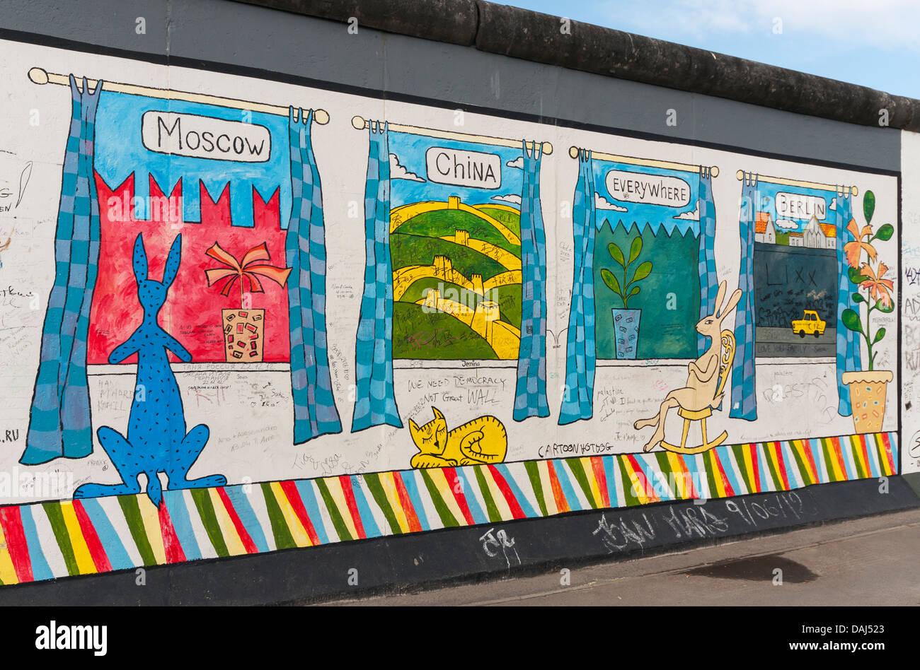 Internazionale Di Pittura Murale Da Aleksey Taranin La East Side Gallery Il Muro Di Berlino Berliner Mauer Germania Foto Stock Alamy