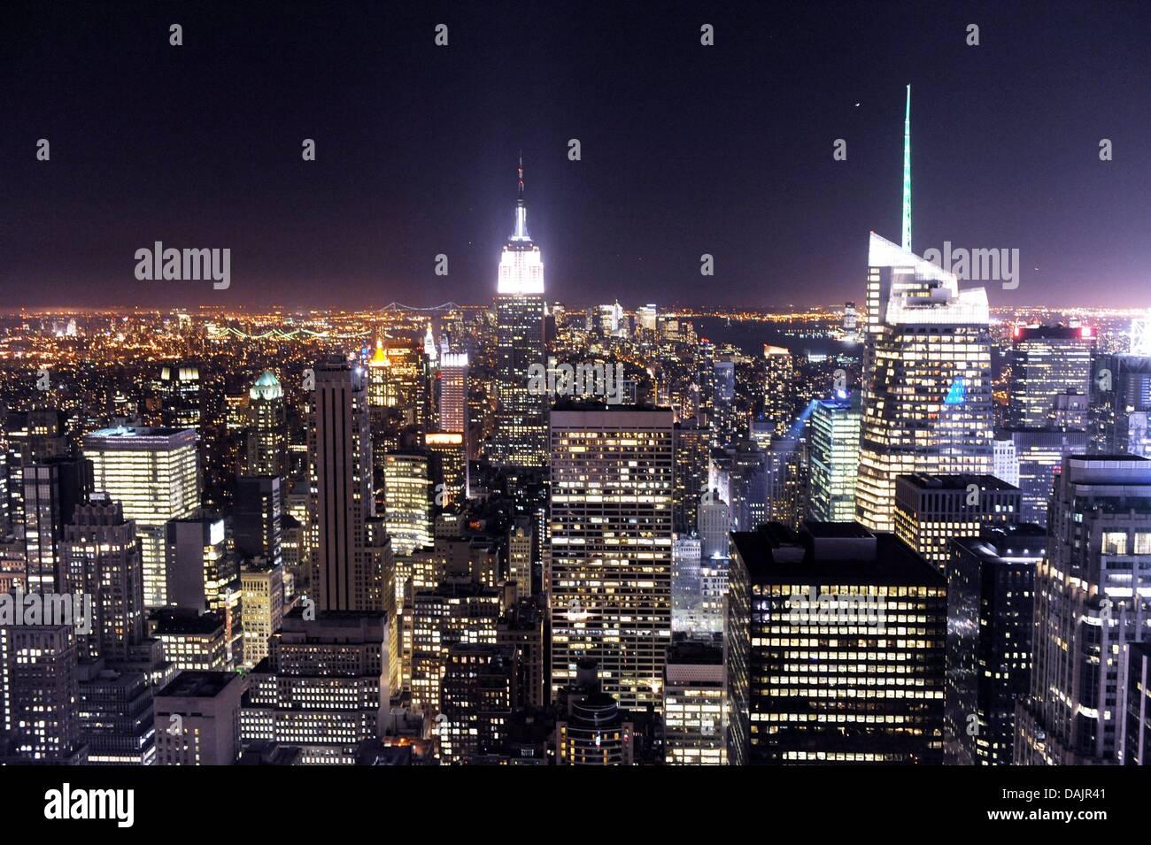 Von der Aussichtsplattform des Rockefeller Center ist die inferno ...