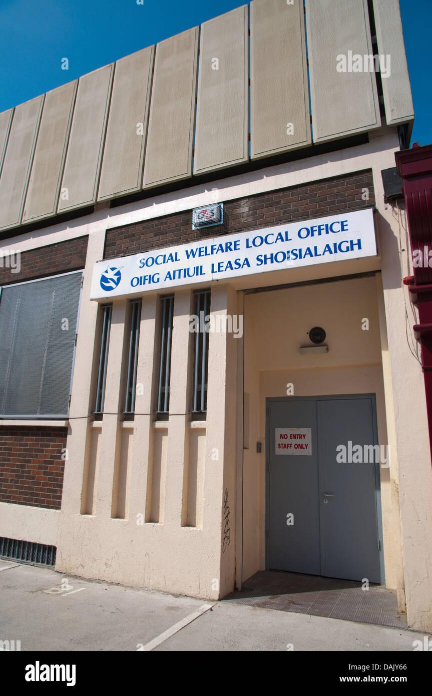 Il benessere sociale ufficio locale northside Dublino Irlanda Europa Immagini Stock