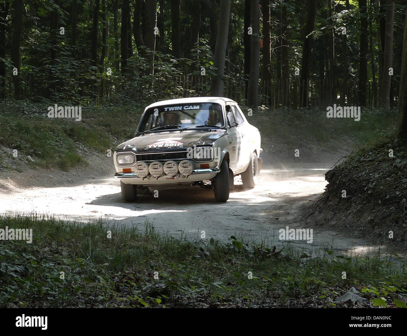 Ford Escort mk1 rally Goodwood Festival della velocità 2013 Immagini Stock