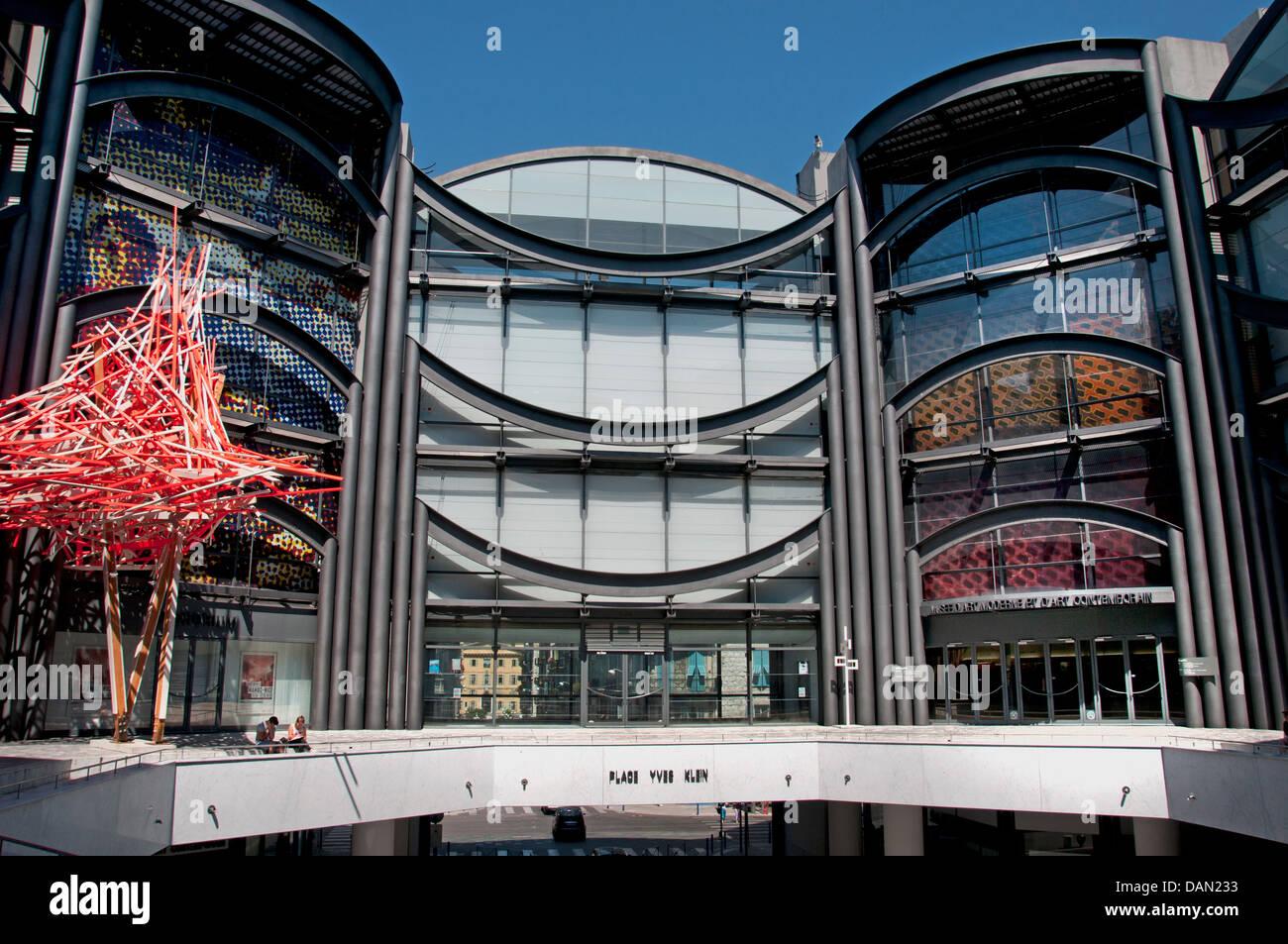 Musée d'Art Moderne et d'Art Contemporain - Museo di Arte Moderna e Contemporanea di Nizza arte in Immagini Stock