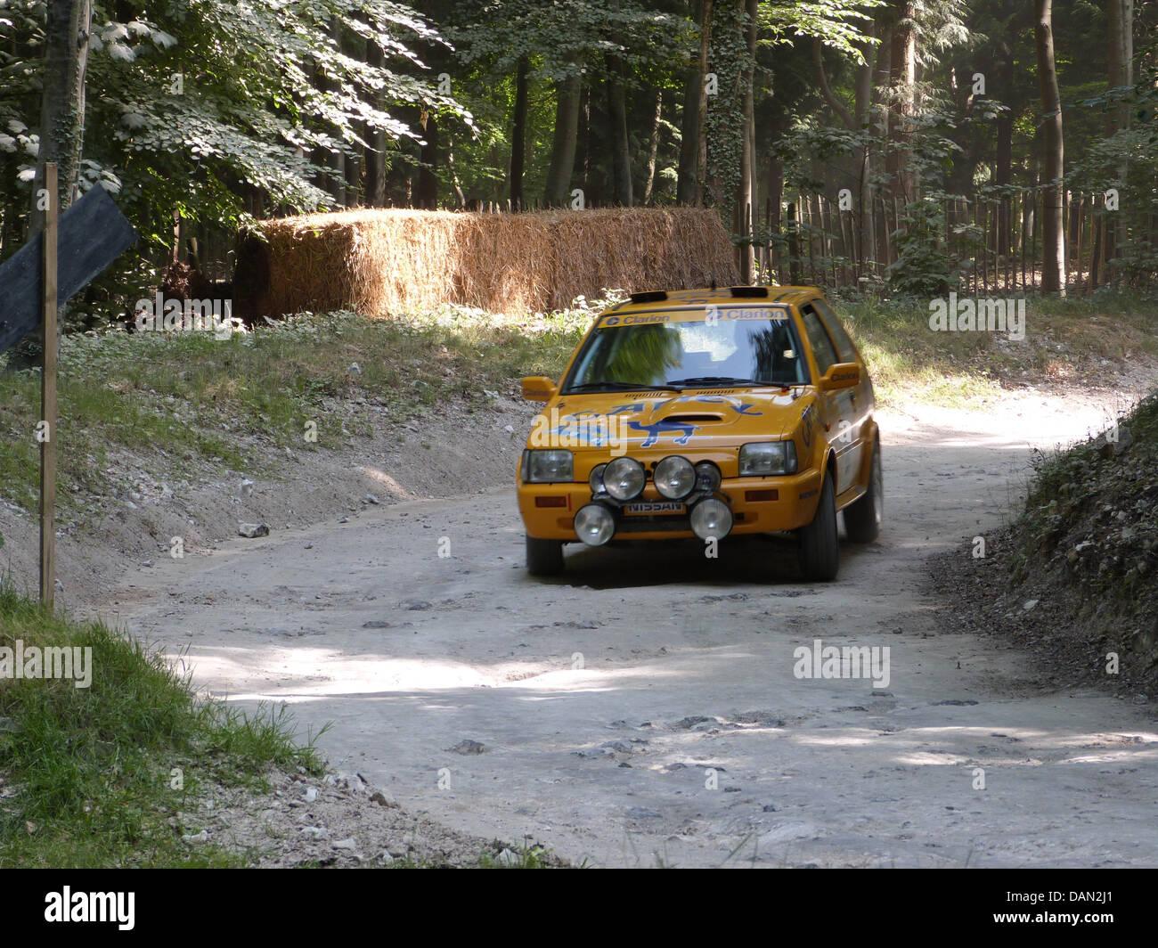 Nissan Micra Rally Car Goodwood Festival della velocità 2013 Immagini Stock