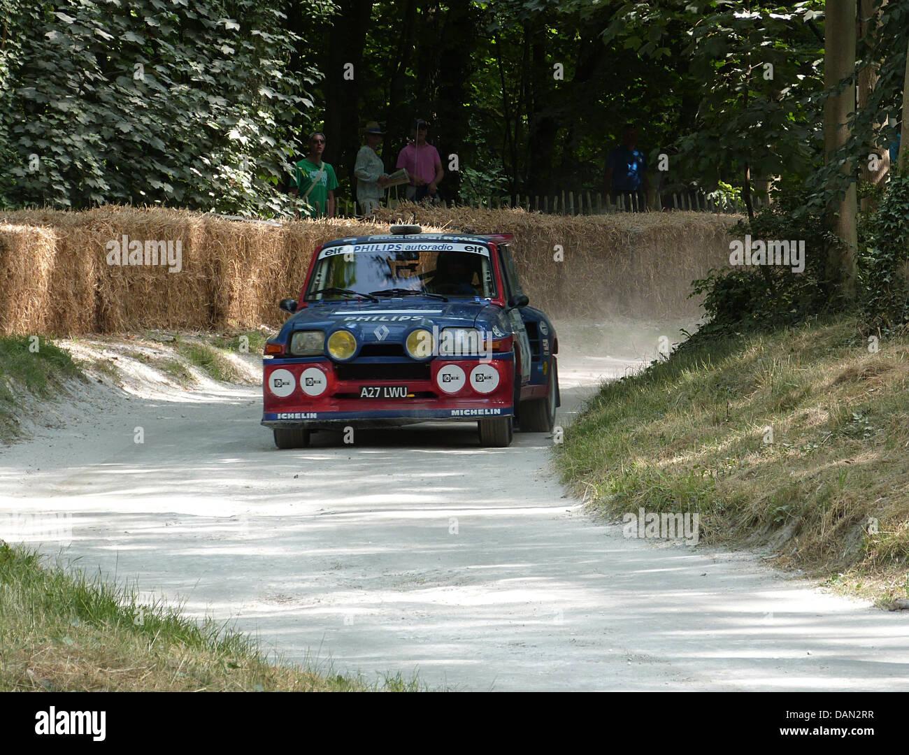 Renault 5 rally goodwood festival della velocità 2013 Immagini Stock