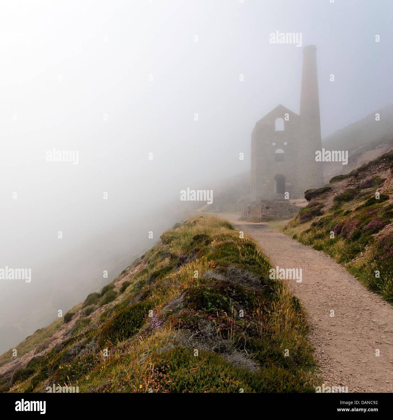 Cornish Miniera di stagno a Wheal Coates Immagini Stock
