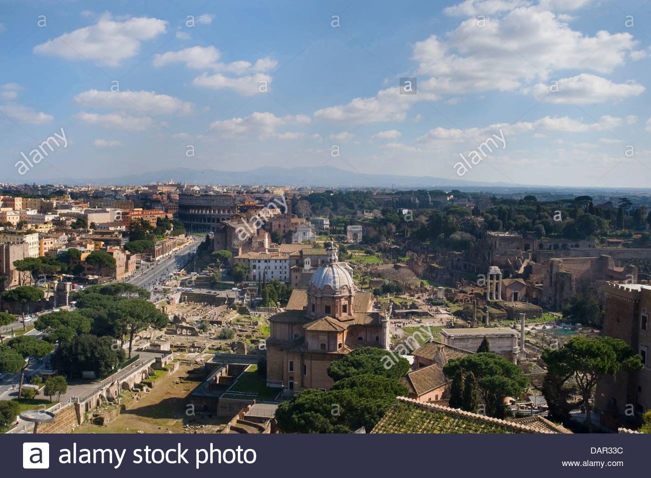 Fori imperiali,vista dalla terrazza del Vittoriano,roma,lazio,Italia ...