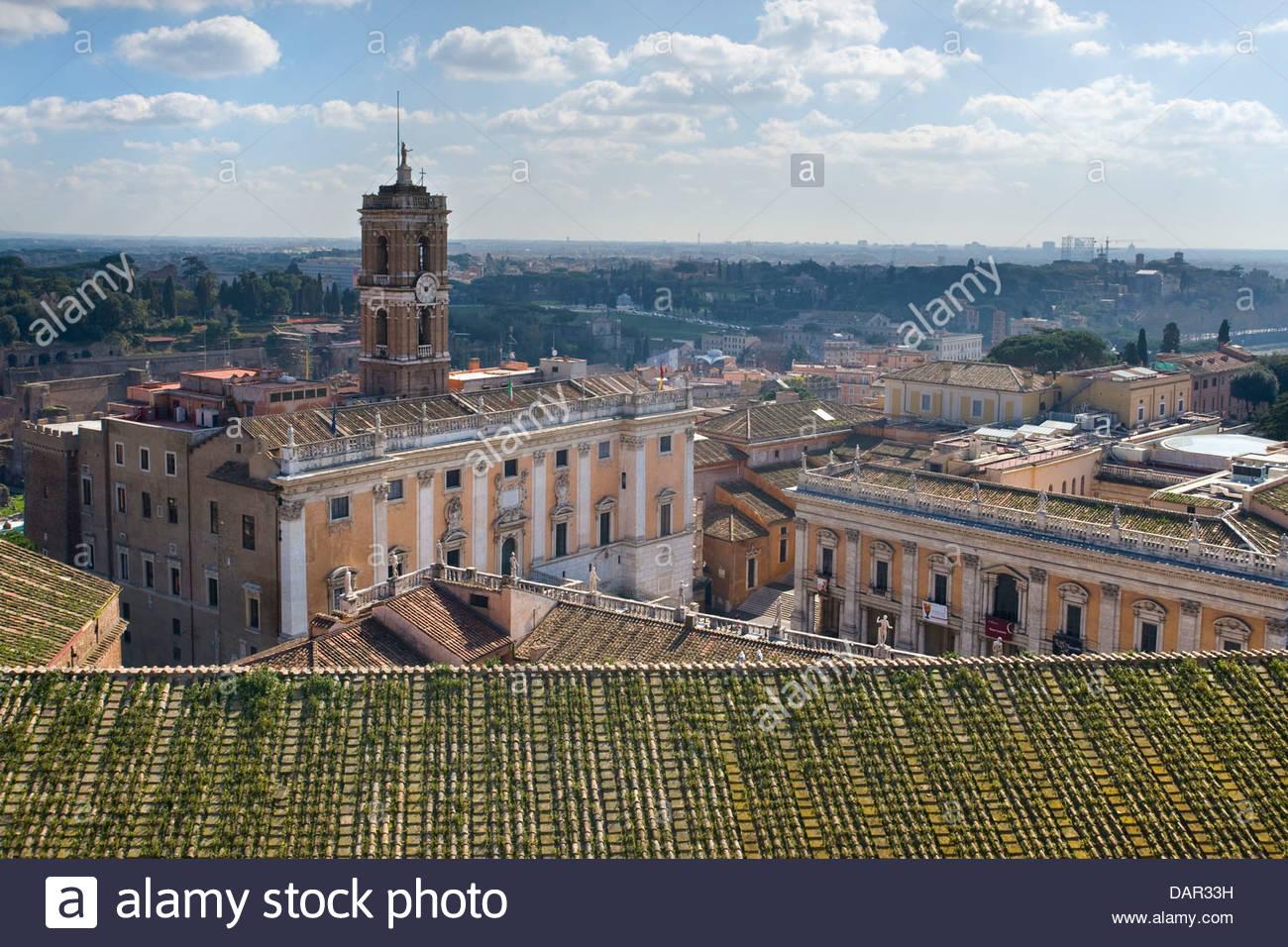 Campidoglio,vista dalla terrazza del Vittoriano,roma,lazio,Italia ...